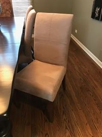 Set of Six Richter Suede Parsons Dining Chairs $400 for set of four