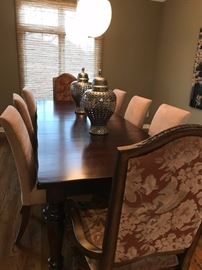 "Pottery Barn Dining Table 42"" x 72"" x 30"" high with two 18"" leaves in Mahogany.  $500"