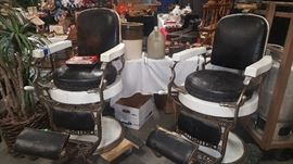 Pair of Koken Companies St Louis  Barber Chairs