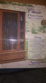 New in Box American Furniture 8 Gun Curio cabinet