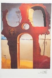 One of several large Salvador Dali numbered prints