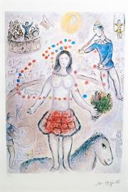 Large marc Chagall numbered print