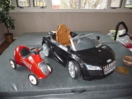 kids Radio Flyer 8 peddle car and electric  Audi R8  Spyder