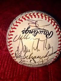 Authentic signatures of Willie McGee, Red Schoendienst, Dave McKay, etc.