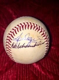 Authentic Signature of Red Schoendienst  and others