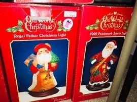 Old World Christmas Regal Father Christmas Light and Old World Christmas 2009 Patchwook Santa Light