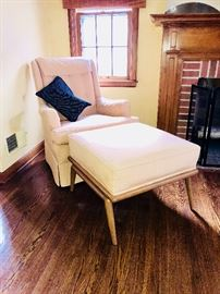 Drexel Mid Century  arm chair and ottoman