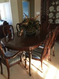 Mahogany Table with 6 Chairs