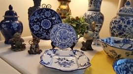 beautiful blue and white pottery, china and more