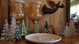 vintage glass christmas tree collection and LOTS of christmas decor!