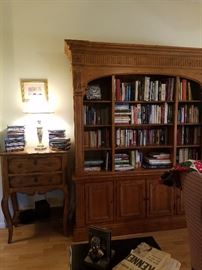 Ethan Allen bookcase, nice silver chest