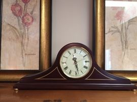 Bombay Furniture Co. mantle clock.
