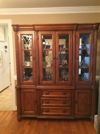 China cabinet. Purchased at Haynes Furniture.