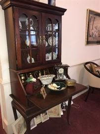 GLASS FRONT SECRETARY CABINET