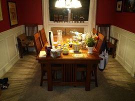 Dining Room Set and Knick Knacks