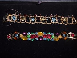 Swarovski Crystal bracelet and Rhinestone bracelet