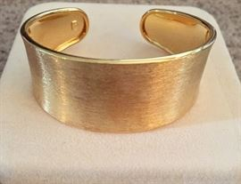 Sterling silver and 14K gold plated cuff bracelet