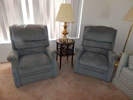 Blue Fabric Recliners