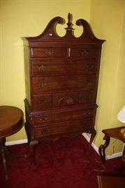 Mahogany highboy