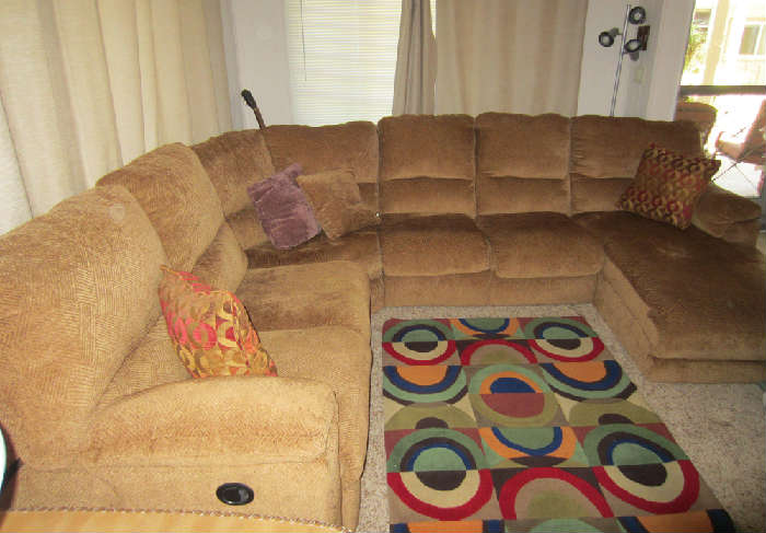 Double recliner with twin foldout bed