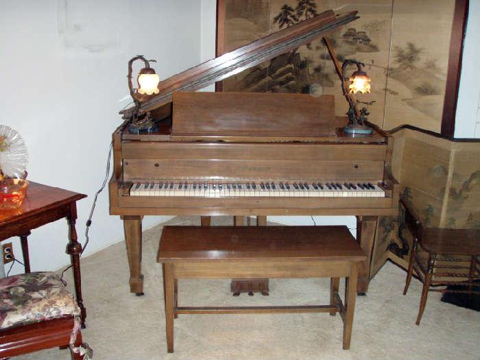 Charles M. Steiff baby grand piano, circa 1903