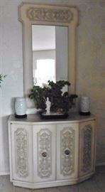 Another console cabinet with matching mirror