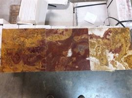 48 sq ft of 12x12 Multi Red Onyx Tile