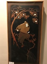 Just added.......Antique Wood Panel Samurai Warrior Panel from D. Himmel