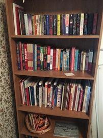 Bookcase and Books - Cookbooks, Religious, Aeronautical, etc!