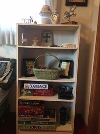 Bookshelf and games!