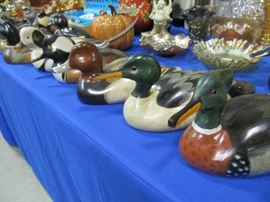 Hand carved Artist signed duck figures
