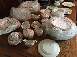 Copeland Spode Rosebud Chintz China. More than 50 pieces.