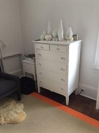 Dresser with glass knobs