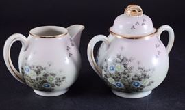 Lot 6: Oriental Hand Painted Eggshell Cream & Sugar