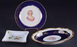 Lot 8: Reichenbach Oval Dish, Capsco Plate & Pin Dish