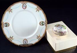 Lot 7:Lenox Easter Egg & Virginian Scalloped Plate