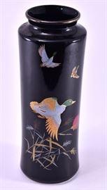 Lot 12: Black Japanese Vase