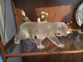 Lalique Walking Jaguar (have box) Royal Doulton Figurines