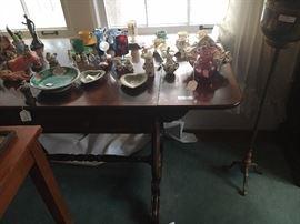 Mahogany Sofa Table with Occupied Japan, etc