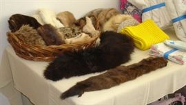 Vintage fur collar and hat collection