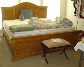King size bed, king mattress set