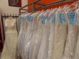 $99.00 each all Alfred Angelo wedding gowns - 120 to choose from sizes 6 to 26