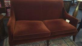 """Burnt sienna sofa 62""""L x 38"""" w Buy it Now $400"""