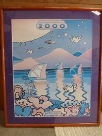 Signed Peter Max poster