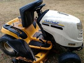 riding cub cadet mower