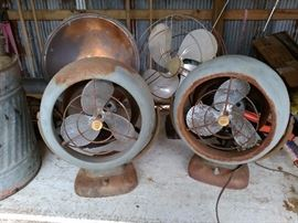 antique metal fans