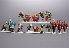 "Offered is a lot of 4 figures sets from The Heritage Village Collection by Department 56: ""Woodsmen Elves"", ""Yeomen Of The Guard"", ""Last Minute Delivery"", and ""Charting Santa's Course"". The boxes show normal shelf wear but the porcelain is undamaged. Please see the photos at completeset.com for details."