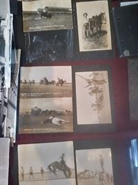 Early real photo post cards. South Dakota Deadwood Stage Hold Up