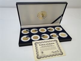 10 State Quarters 24K Gold Plated in Display Box