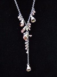 925 Silver Amethyst Gemstone Pendant Necklace